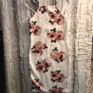 Boohoo Floral Bodycon Dress